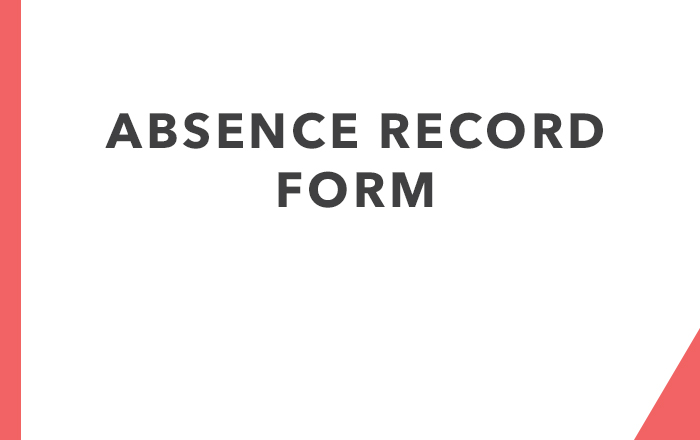 Absence Record Form