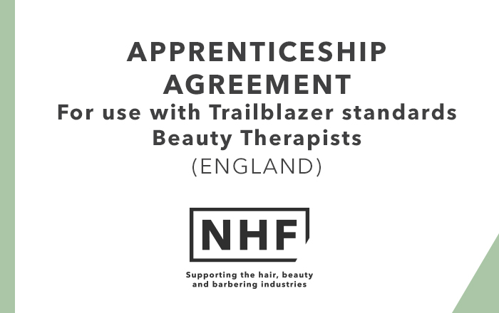 Apprenticeship Agreement Beauty Therapist Trailblazer England