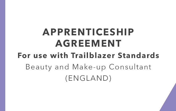 Apprenticeship Agreement Beauty and Make-up Consultant Trailblazer England