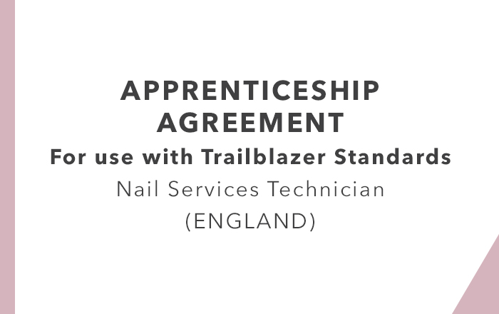 Apprenticeship Agreement Nail Services Technician Trailblazer England