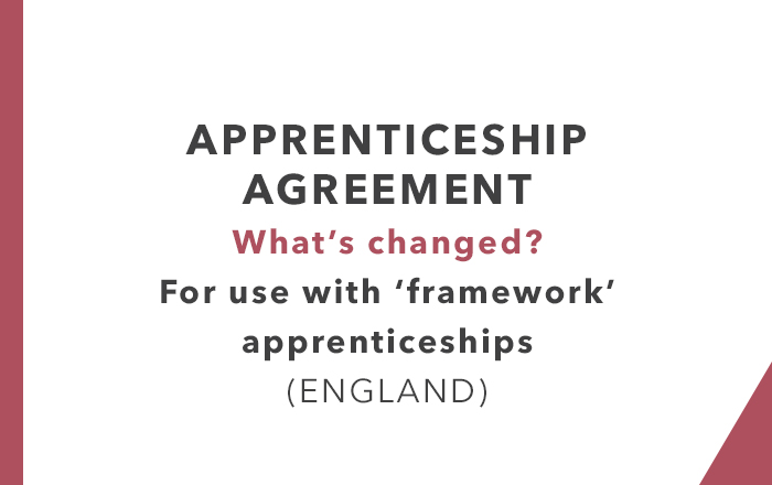 Apprenticeship Agreements England (What's changed?)