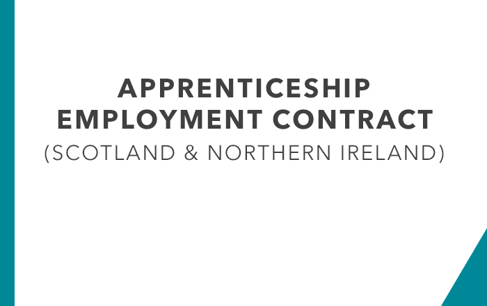 Apprenticeship Employment Contract Scotland and Northern Ireland