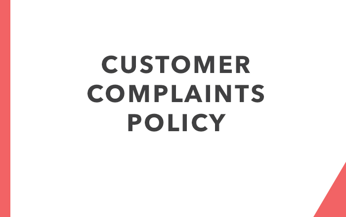 Customer Complaints Policy