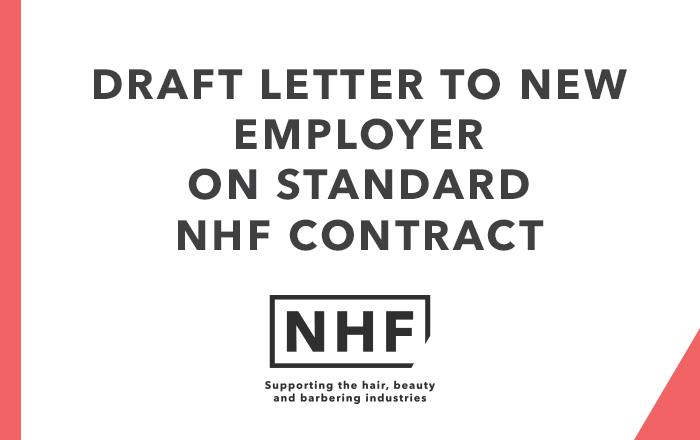 Draft Letter to New Employer on Standard NHF Contract
