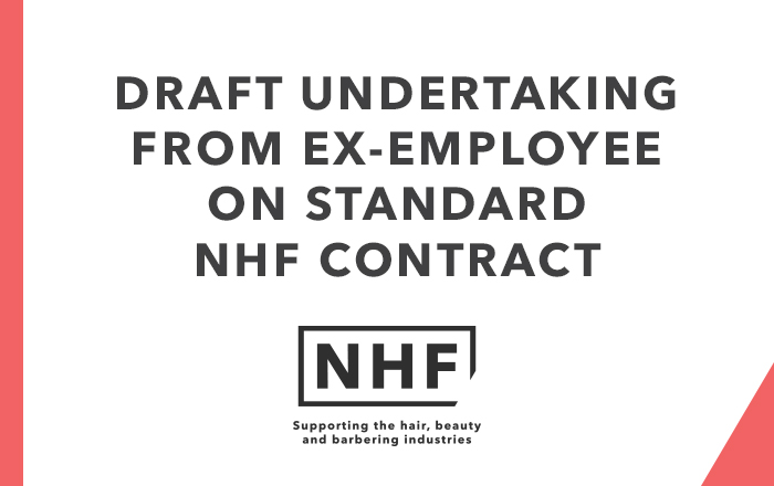 Draft Undertaking from Ex-Employee on Standard NHF Contract