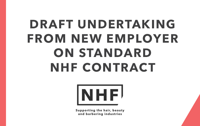 Draft Undertaking from New Employer on Standard NHF Contract
