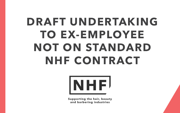 Draft Undertaking from Ex-Employee Not on Standard NHF Contrac