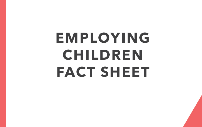 Employing Children & Young People