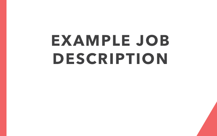 Example Job Description