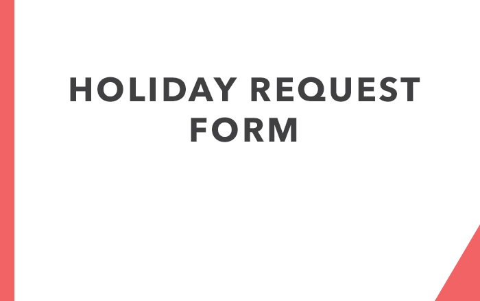 Holiday Request Form