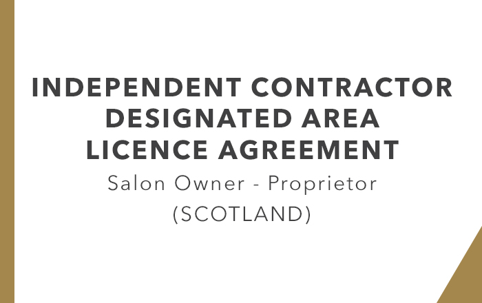 ICA - Designated Area Licence Agreement Proprietor (Scotland)