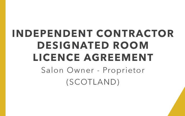 ICA - Designated Room Licence Agreement Proprietor (Scotland)