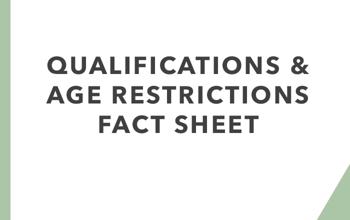 Qualifications & Age Restrictions Factsheet