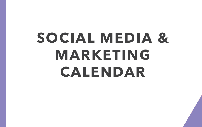 Social Media & Marketing Calendar