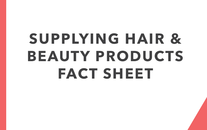 Supplying Hair & Beauty Products Fact Sheet